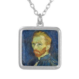 Vincent van Gogh-Selbstporträt mit Palette Versilberte Kette