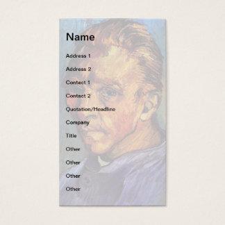 Vincent van Gogh - Selbstporträt ohne Bart Visitenkarte