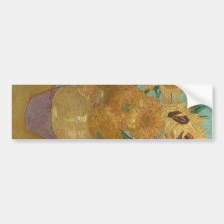 Vincent van Gogh - Sonnenblumen Autoaufkleber