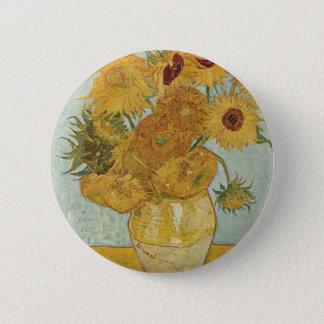 Vincent van Gogh - Sonnenblumen Runder Button 5,7 Cm