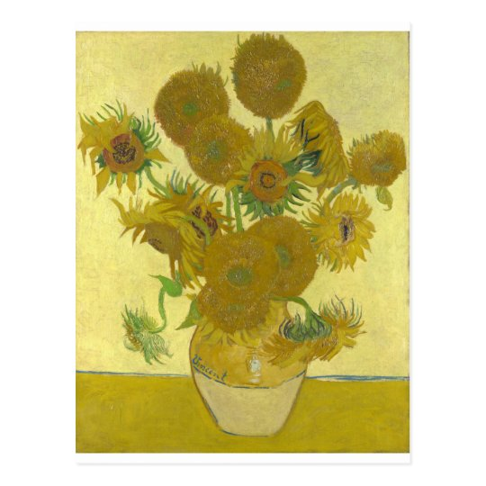 Vincent van Gogh Sonnenblumen Vase Blumen Kunst Postkarte