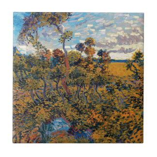 Vincent van Gogh - Sonnenuntergang an Montmajour Keramikfliese