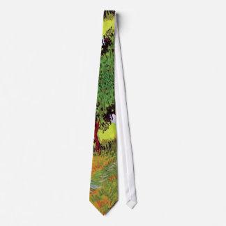 Vincent van Gogh - sonniger Rasen in einem Personalisierte Krawatte