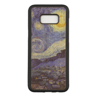 Vincent van Gogh Starry NachtVintage feine Kunst Carved Samsung Galaxy S8+ Hülle