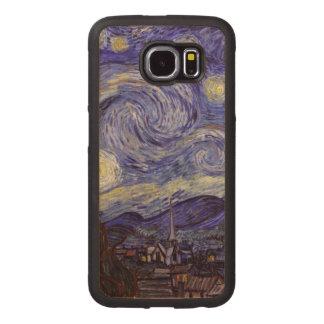 Vincent van Gogh Starry NachtVintage feine Kunst Handyhülle Aus Holz