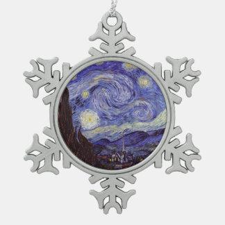 Vincent van Gogh Starry NachtVintage feine Kunst Schneeflocken Zinn-Ornament