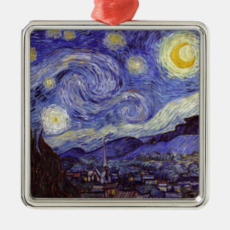 Vincent van Gogh Starry NachtVintage feine Kunst Silbernes Ornament