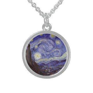 Vincent van Gogh Starry NachtVintage feine Kunst Sterling Silberkette