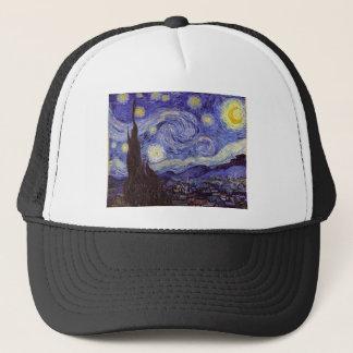Vincent van Gogh Starry NachtVintage feine Kunst Truckerkappe