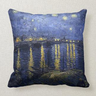 Vincent van Gogh-Sternenklar Night über der Rhône Kissen