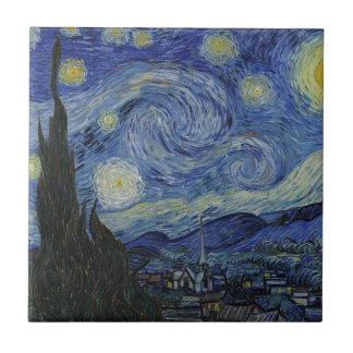 Vincent van Gogh - sternenklare Nacht. Keramikfliese