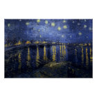 Vincent van Gogh - sternenklare Nacht über der Poster