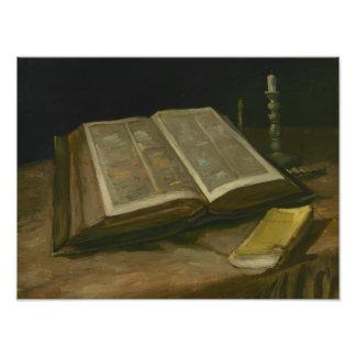 Vincent van Gogh - Stillleben mit Bibel Fotodruck