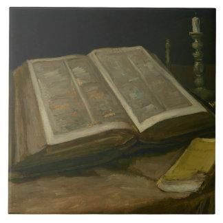 Vincent van Gogh - Stillleben mit Bibel Keramikfliese