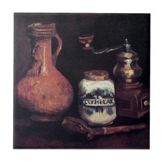 Vincent van Gogh - Stillleben mit Kaffeemühle Keramikfliese