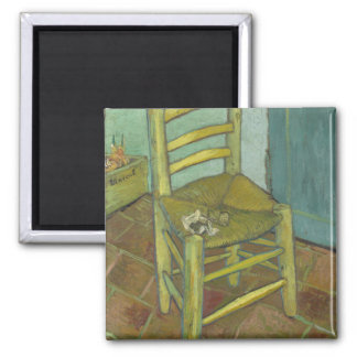 Vincent van Gogh - Stuhl mit Verband Quadratischer Magnet