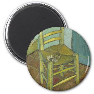Vincent van Gogh - Stuhl mit Verband Runder Magnet 5,1 Cm