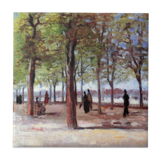 Vincent van Gogh - Terrasse in Luxemburg-Garten Fliese