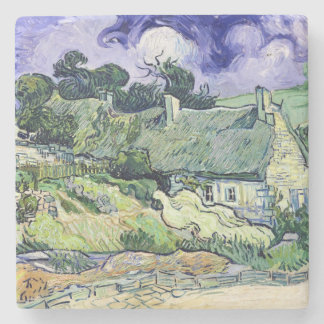 Vincent van Gogh   Thatched Hütten bei Cordeville Steinuntersetzer