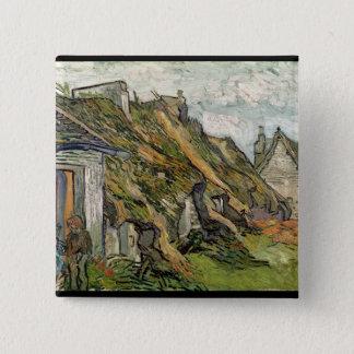 Vincent van Gogh | Thatched Hütten in Chaponval Quadratischer Button 5,1 Cm