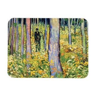 Vincent van Gogh - Unterholz mit zwei Zahlen Magnet