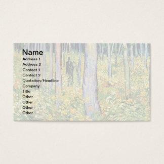 Vincent van Gogh - Unterholz mit zwei Zahlen Visitenkarte