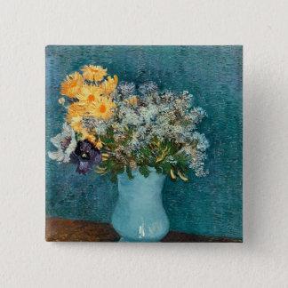 Vincent van Gogh | Vase Blumen, 1887 Quadratischer Button 5,1 Cm