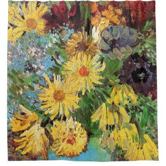 Vincent van Gogh - Vase mit Gänseblümchen und Duschvorhang