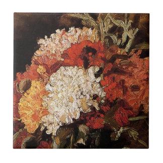 Vincent van Gogh - Vase mit Gartennelken - schöne Keramikfliese