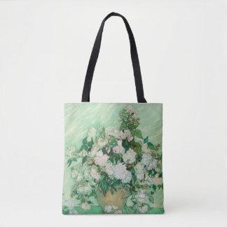Vincent van Gogh Vase mit rosa Rosen GalleryHD Tasche