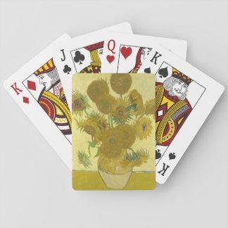 Vincent van Gogh - Vase mit vierzehn Sonnenblumen Spielkarten