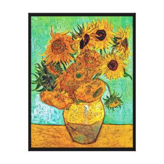 Vincent van Gogh - Vase mit zwölf Sonnenblumen Leinwanddruck