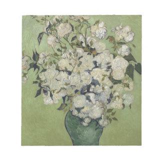 Vincent van Gogh Vase Rosen, die Blumenkunst malen Notizblock