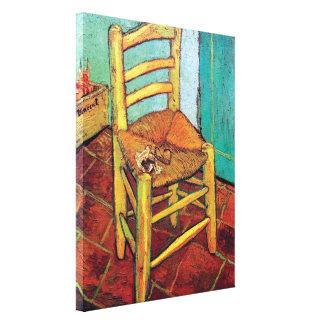 Vincent van Gogh - Vincents Stuhl mit Rohr Leinwanddruck
