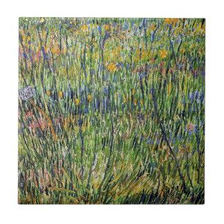 Vincent van Gogh - Weide in der Blüten-schönen Keramikfliese