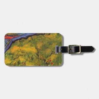 Vincent van Gogh-Weizen-Feld mit aufgehende Sonne Gepäckanhänger
