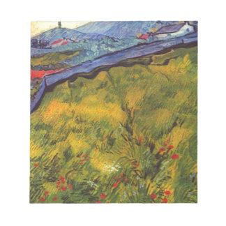Vincent van Gogh-Weizen-Feld mit aufgehende Sonne Notizblock