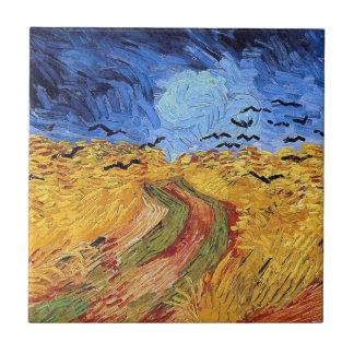 Vincent van Gogh - Weizen-Feld mit schwarzen Fliese