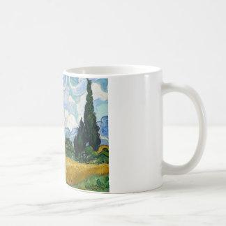 Vincent van Gogh - Weizen-Feld mit Zypressen Kaffeetasse