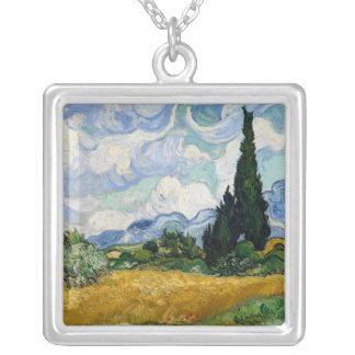 Vincent van Gogh-Weizen-Feld mit Zypressen Versilberte Kette