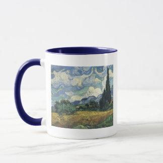 Vincent van Gogh-Weizen-Felder mit Zypressen Tasse