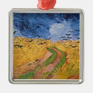 Vincent van Gogh | Wheatfield mit Krähen, 1890 Silbernes Ornament