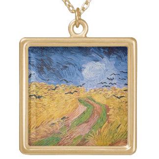 Vincent van Gogh | Wheatfield mit Krähen, 1890 Vergoldete Kette