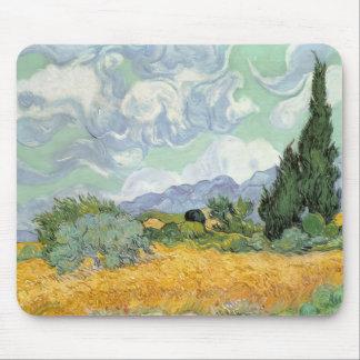 Vincent van Gogh | Wheatfield mit Zypressen, 1889 Mousepad