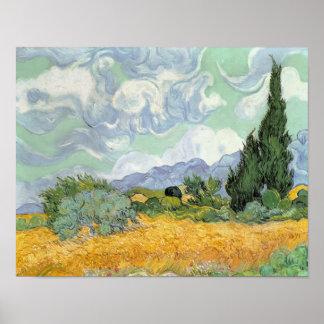 Vincent van Gogh | Wheatfield mit Zypressen, 1889 Poster