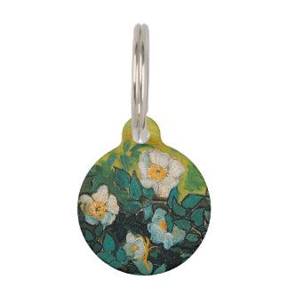 Vincent van Gogh wilde Rosen-Vintage Blumenkunst Haustiermarke