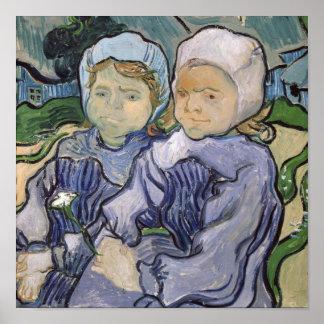Vincent van Gogh | zwei kleine Mädchen, 1890 Poster