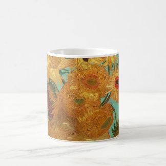 Vincent van Gogh zwölf Sonnenblumen in einem Vase Kaffeetasse