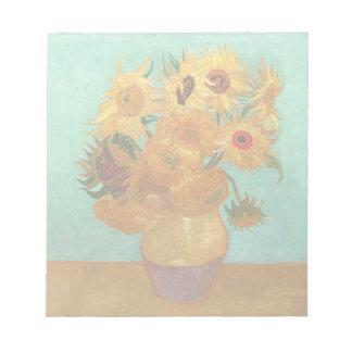 Vincent van Gogh zwölf Sonnenblumen in einem Vase Notizblock