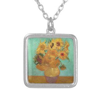 Vincent van Gogh zwölf Sonnenblumen in einem Vase Versilberte Kette